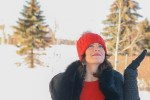 des outfit, valentines day, winter style, red tuque, winter blues, feel better, be happy, have a good day