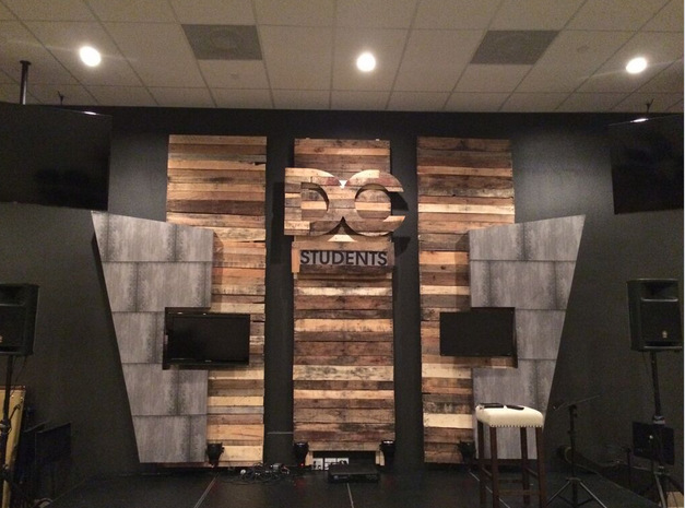 Discovery Church Adds Auditorium Stage Graphics In Winter Garden Fl