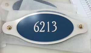 ADA Building Address Sign