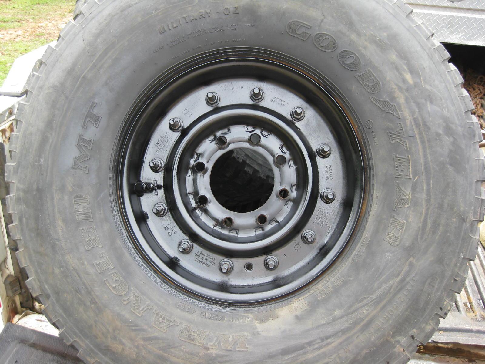 "FS 5 H1 Hummer 8 Lug Wheels 37"" Tires 37x12 50x16 5 $800"