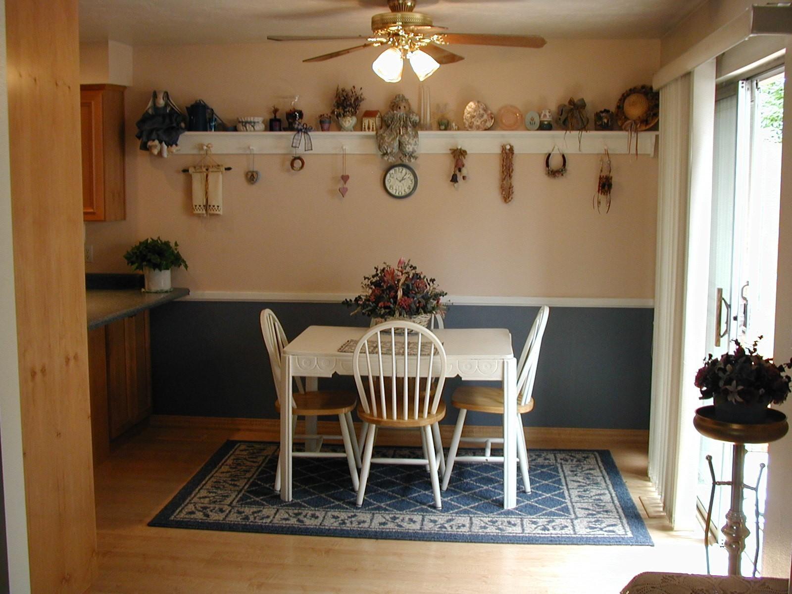 lighting in kitchen with no island? (floor, paneling, countertops