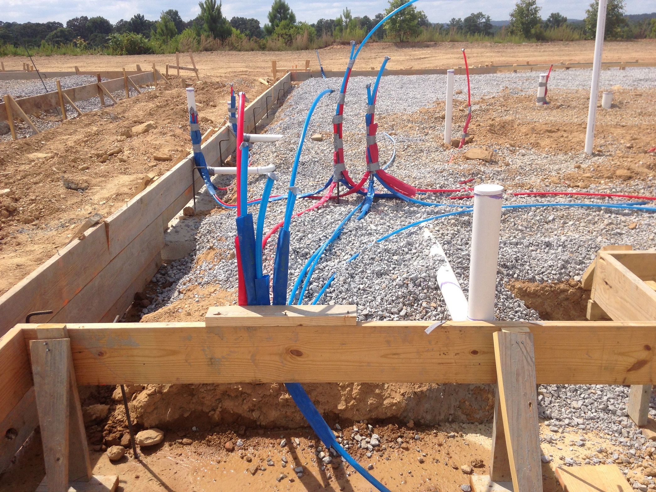 Defect In New Foundation Pour Drains Installation