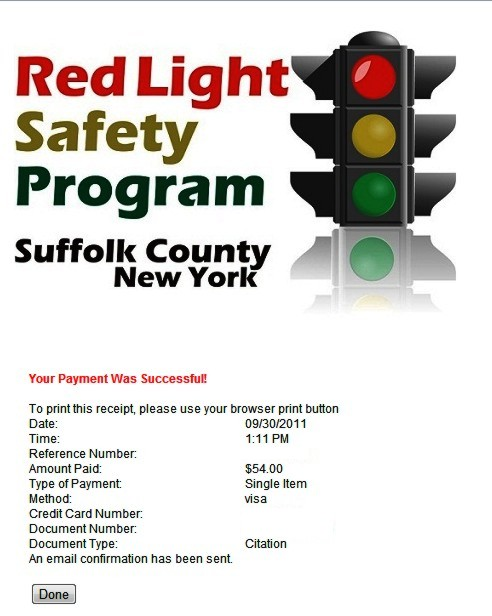I Got My First Red Light Camera Ticket Law Legally Long Island