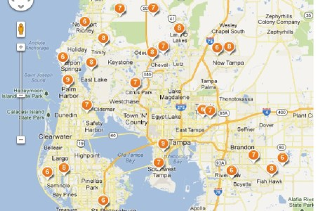 map tampa florida area » Free Wallpaper for MAPS | Full Maps