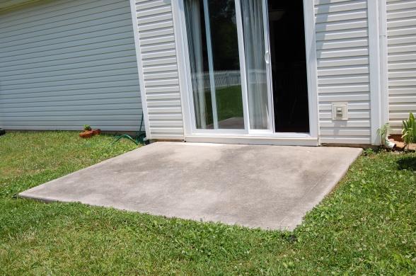extending concrete patio slab need