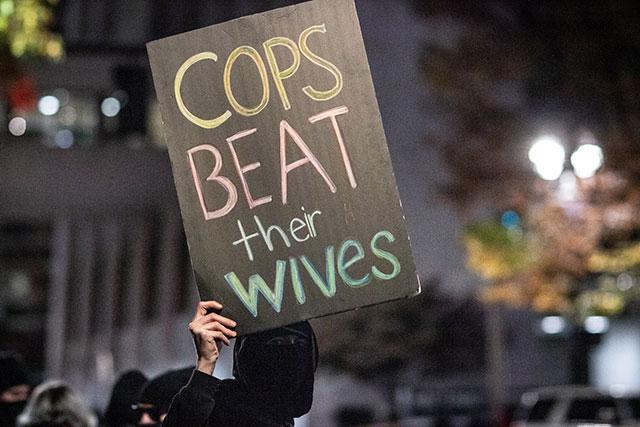 Protesters in Portland, Oregon