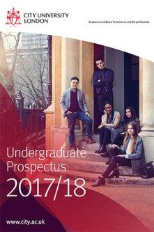 Undergraduate Prospectus cover for 2017/18 academic year