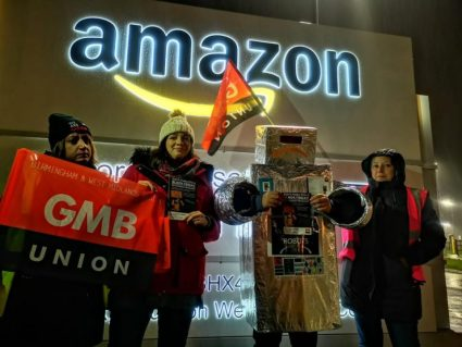 German and UK Amazon workers strike on 'Black Friday'