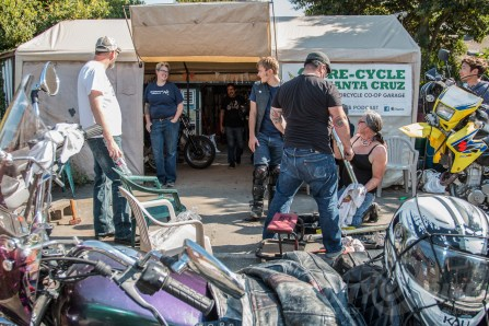 Liza Miller and the Re-Cycle Garage. Photos: Angelica Rubalcaba.