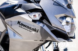 2017 Kawasaki Versys-X 300 close-up, front right side.