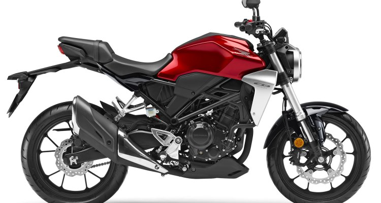 New 2019 Honda CBR300R Chromosphere Red side view