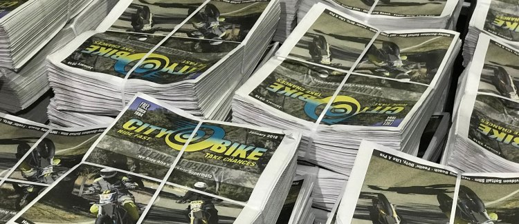 Stacks of CityBike January 2018 issue, hot off the press!