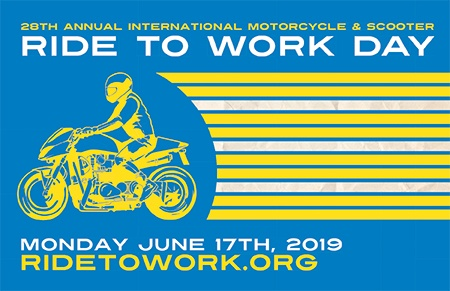The 28th annual Ride to Work Day is June 17, 2019.
