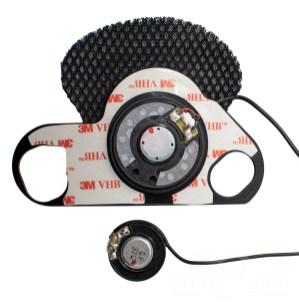 Interphone Pro Sound Kit speaker and mount vs. standard Tour speaker.