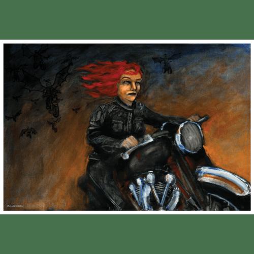 Black Lightning Art Print