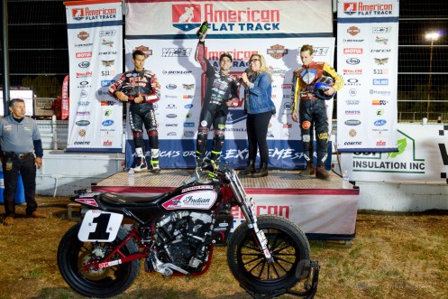 Kenny Coolbeth Jr., Jared Mees and Jeffrey Carver Jr. on the podium at the 2018 Calistoga Half-Mile.
