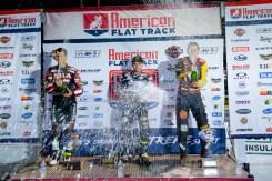 The podium at the 2018 Calistoga Half-Mile.
