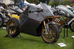 This Mission One was among the electric bikes featured at this year's Quail Motorcycle Gathering.