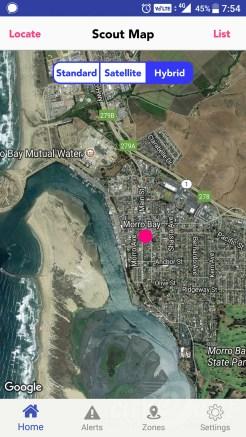 Scout GPS Screenshot