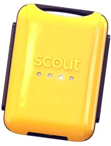 Scout GPS Tracker in Yellow