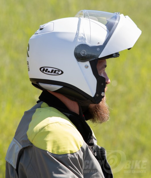 Max in the HJC RPHA 90 modular helmet with the front flipped up