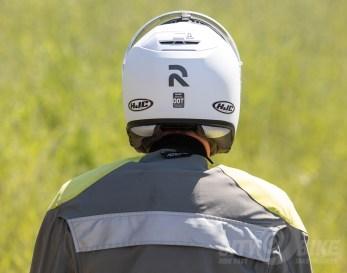 Don't you love to watch him walk away? HJC RPHA 90 Modular Helmet