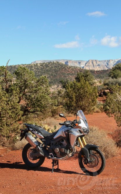 "More ""Arizona Twin,"" AKA Honda Africa Twin DCT. Seriously, you should ride in AZ. Photo: Max Klein."