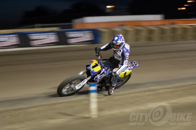 Kolby Carlile rides through the dust at the 2018 Sacramento Mile.