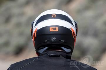 Schuberth E1 Modular Adventure Helmet, back view