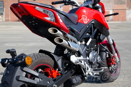 2018 Benelli TNT135 right side and exhaust