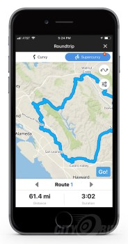 Supercurvy routing option in the Riser app