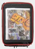 Lexan map pocket in RKA's SuperSport 19.5 liter expandable tankbag.