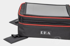 Custom red piping on RKA's SuperSport 19.5 liter expandable tankbag