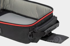 Lined and padded interior in RKA's SuperSport 19.5 liter expandable tankbag