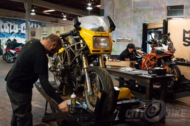 """Damn I'm glad I'm working on this two-valve Ducati and not that KTM."""