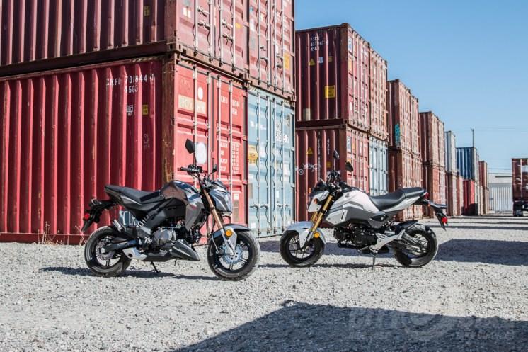 Honda Grom vs. Kawasaki Z125 Pro