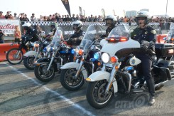 Cops vs Hooligans at the 2018 Moto Bay Classic.