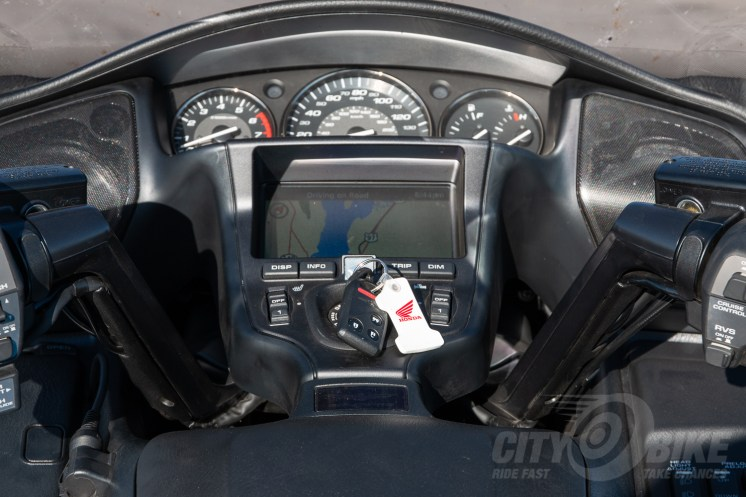 The cockpit of the 2017 Honda Gold Wing.