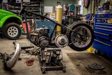 2018 Dirtbag Challenge build: snowmobile chopper!
