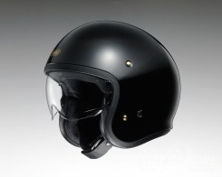 Shoei J•O open-face helmet in black.
