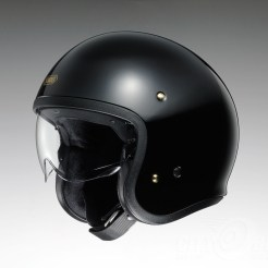 Shoei J•O open-face helmet in black.