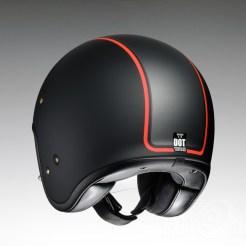 Shoei J•O open face helmet - Caburetor - black, rear