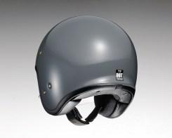 Shoei J•O open-face helmet in rat grey - rear.