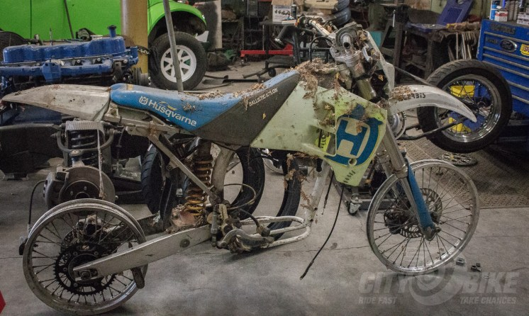 The Husky front end donor. Dirtbag Challenge 2018 build: the SnowMoChop part 2