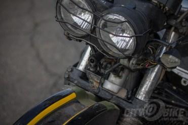 Innovv C3 motorcycle dashcam mounted on Kawasaki KLR650