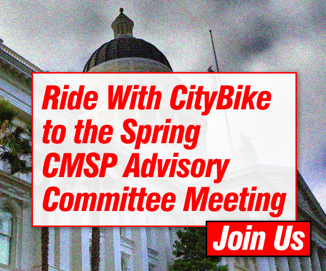 Ride to the Spring CMSP Advisory Committee Meeting with CityBike