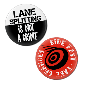 Lane Splitting Pinback Button Set