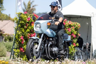 Trace St. Germain's 1978 Kawasaki Z1R at the 2019 Quail Motorcycle Gathering. Photo: Angelica Rubalcaba.