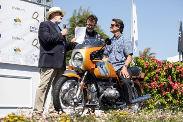 Mark Francois's 1976 BMW R90/S at the 2019 Quail Motorcycle Gathering. Photo: Angelica Rubalcaba.