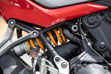 Another view of the Öhlins rear shock.